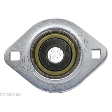 "FHSPFLZ202-10 Bearing Flange Pressed Steel 2 Bolt 5/8"" Ball Bearings Rolling"