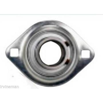 """FHPFLZ205-16 Bearing Flange Pressed Steel 2 Bolt 1"""" Inch Ball Bearings Rolling"""