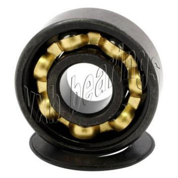 16 inline Skate Sealed Bearing Bronze Cage Black Ball Bearings Rolling