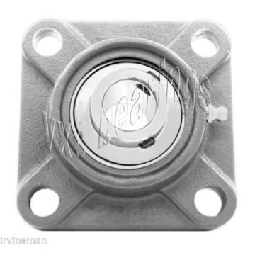 """SSUCF205-16 Stainless Steel Flange 4 Bolt 1"""" Bore Mounted Bearings Rolling"""