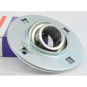 "FHSPFZ206-18 Flange Pressed Steel 3 Bolt 1 1/8"" Inch Ball Bearings Rolling"