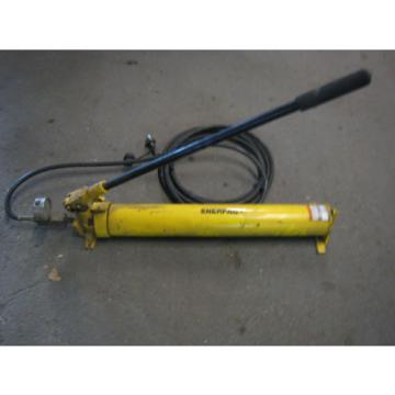 Enerpac P801 Hydraulic Hand Pump 1000psi  W/ Hose And Pressure Gage