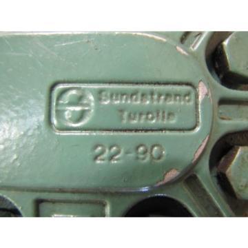 "SUNSTRAND TUROLLA TA26.5D HYDRAULIC PUMP 1"" FLANGE IN/OUT .765"" SHAFT DIA"