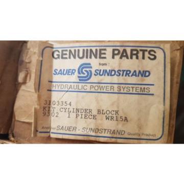 New Sauer Danfoss Cylinder Block Kit 3103354 326124 Series 18 Axial Pump Motors